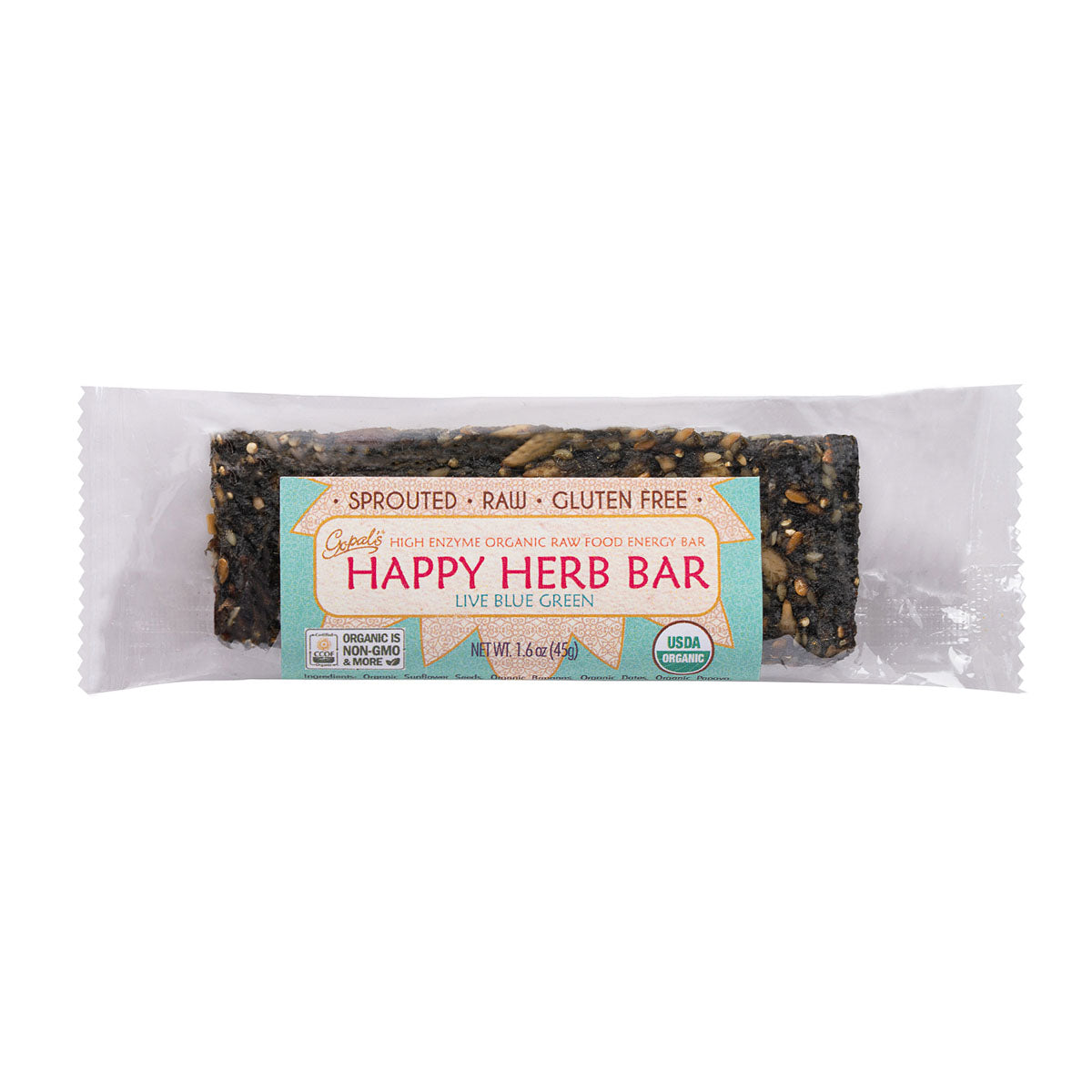 Gopals Live Blue Green Happy Herb Bar (1.6oz / 45g)