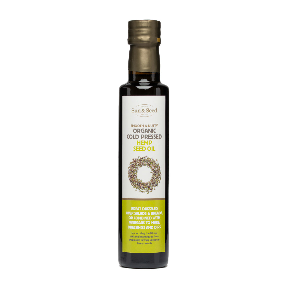 Hemp Oil (250ml) - Cold pressed and Organic