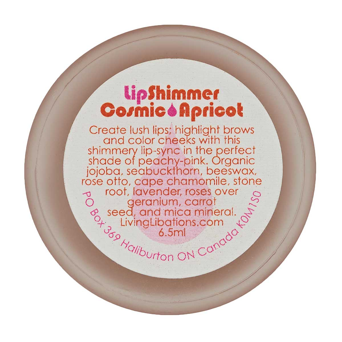 Living Libations - Lip Shimmer Cosmic Apricot