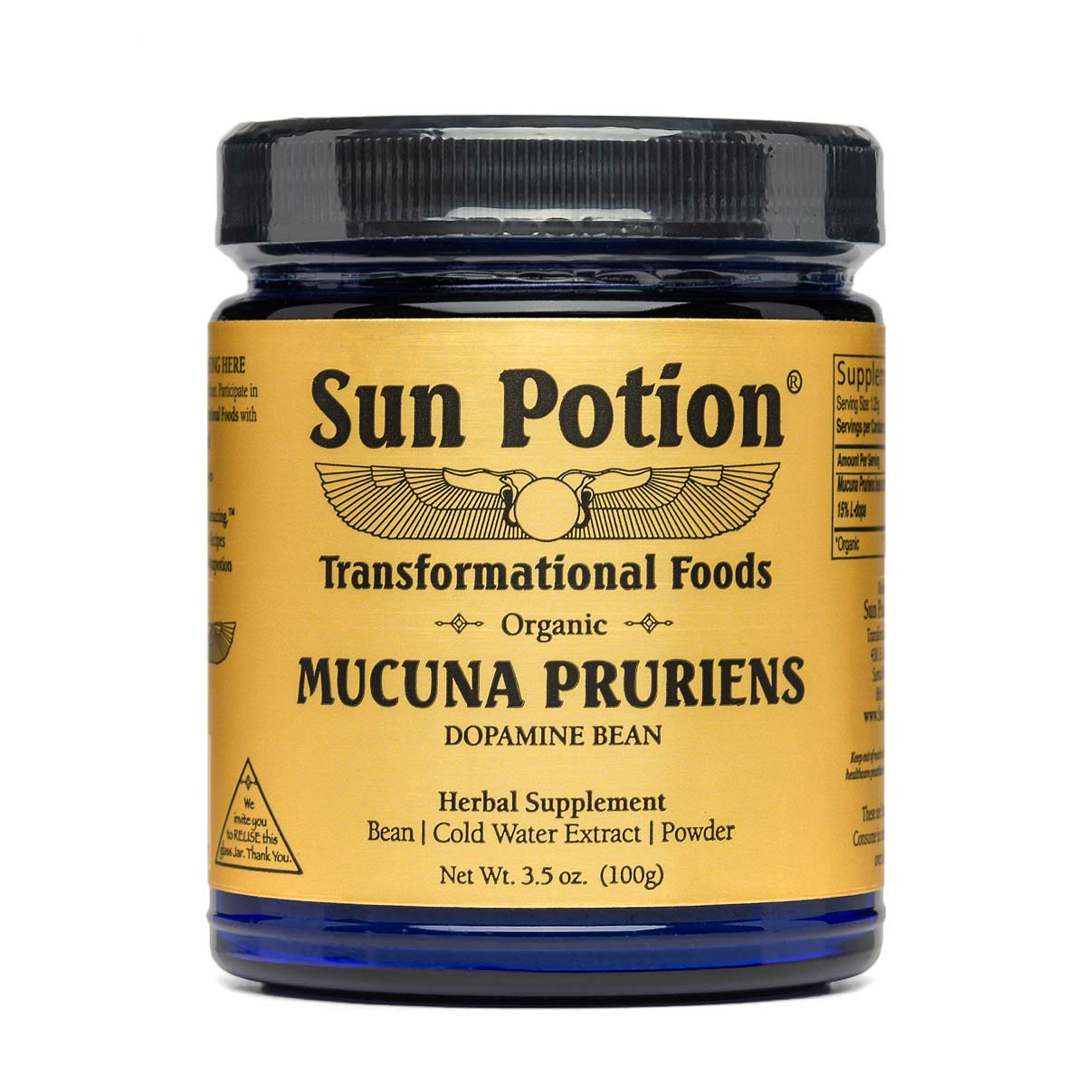 Mucuna Pruriens powder (100g) - Sun Potion
