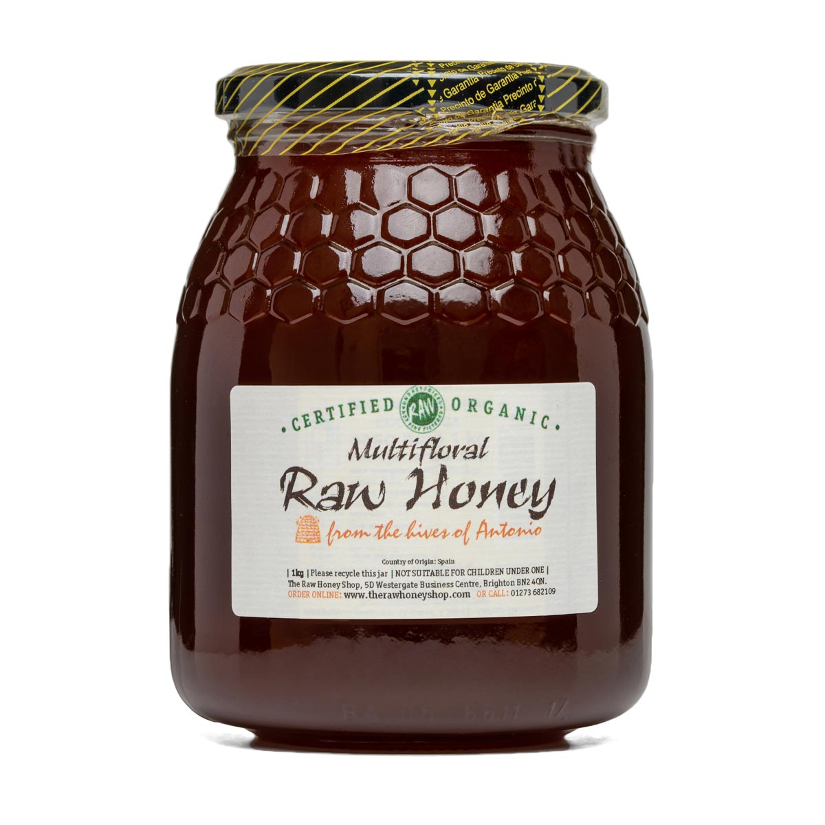Raw Honey - Multifloral 1kg (Organic)