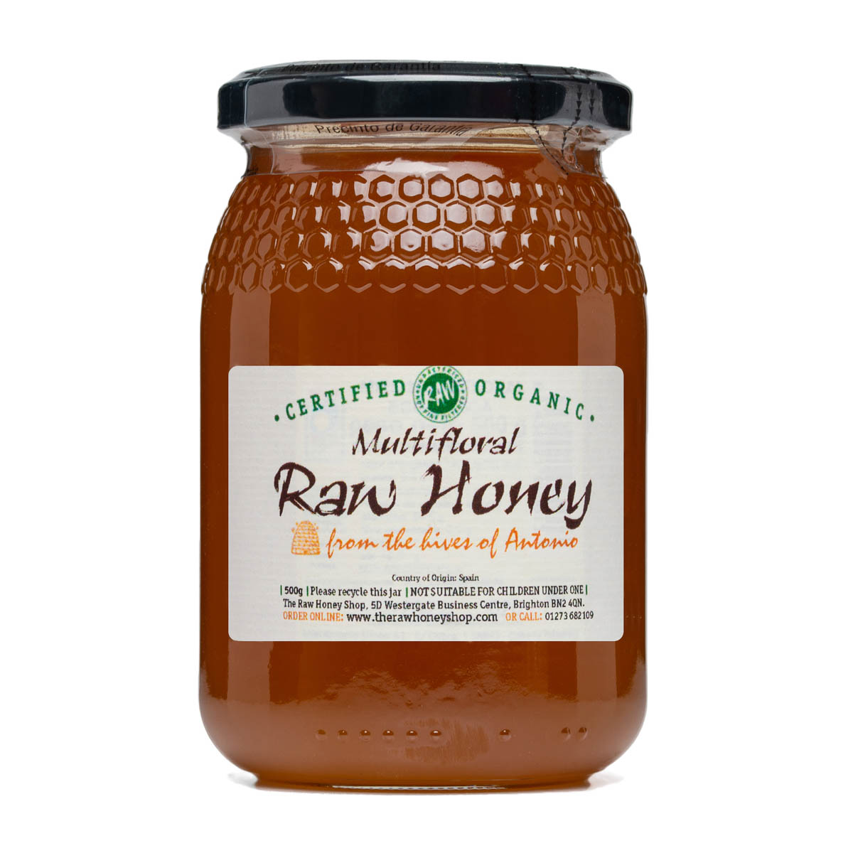 Raw Honey - Multifloral 500g (Organic)