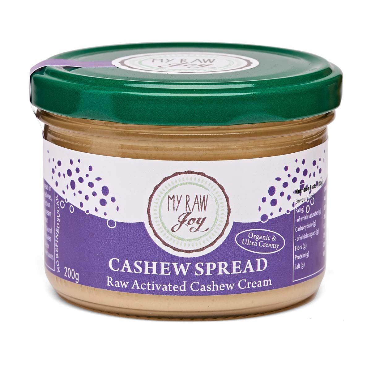 My Raw Joy - Activated Cashew Spread (200g)