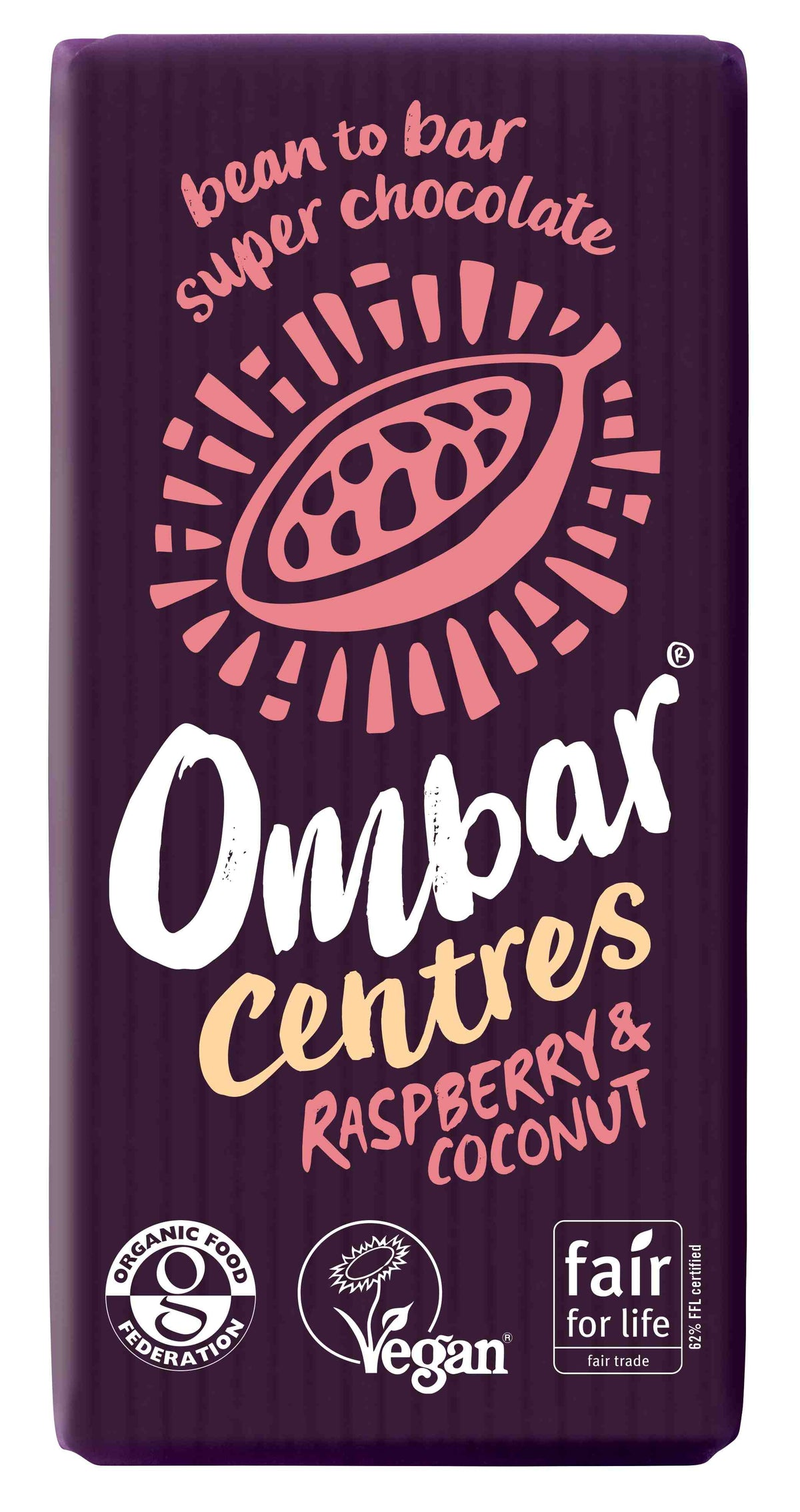 Ombar Centres Raspberry and Coconut (35g, 70g)
