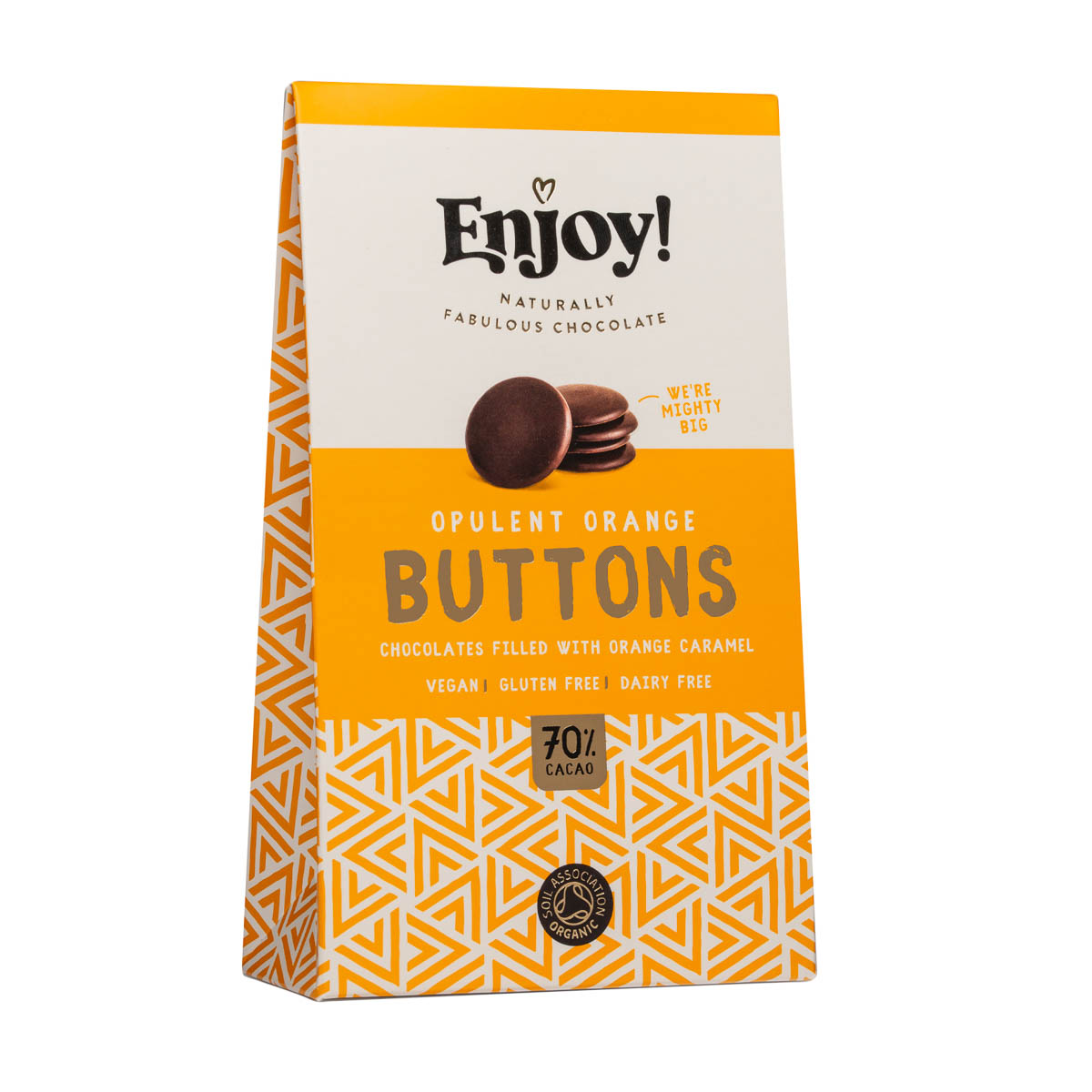 Enjoy Raw Chocolate - Opulent Orange Buttons (96g)