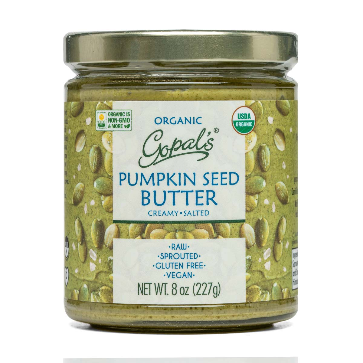 Gopals Sprouted Raw Organic Pumpkin Seed Butter Salted (8oz / 228g)
