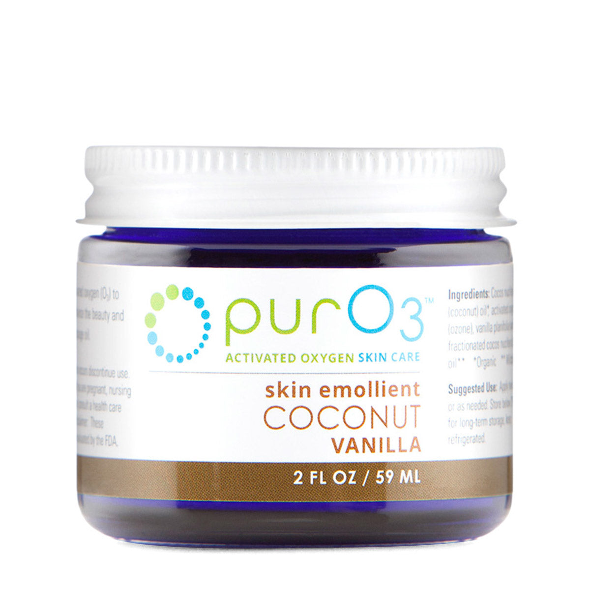 PurO3 Ozonated Organic Coconut Oil Vanilla (2oz)