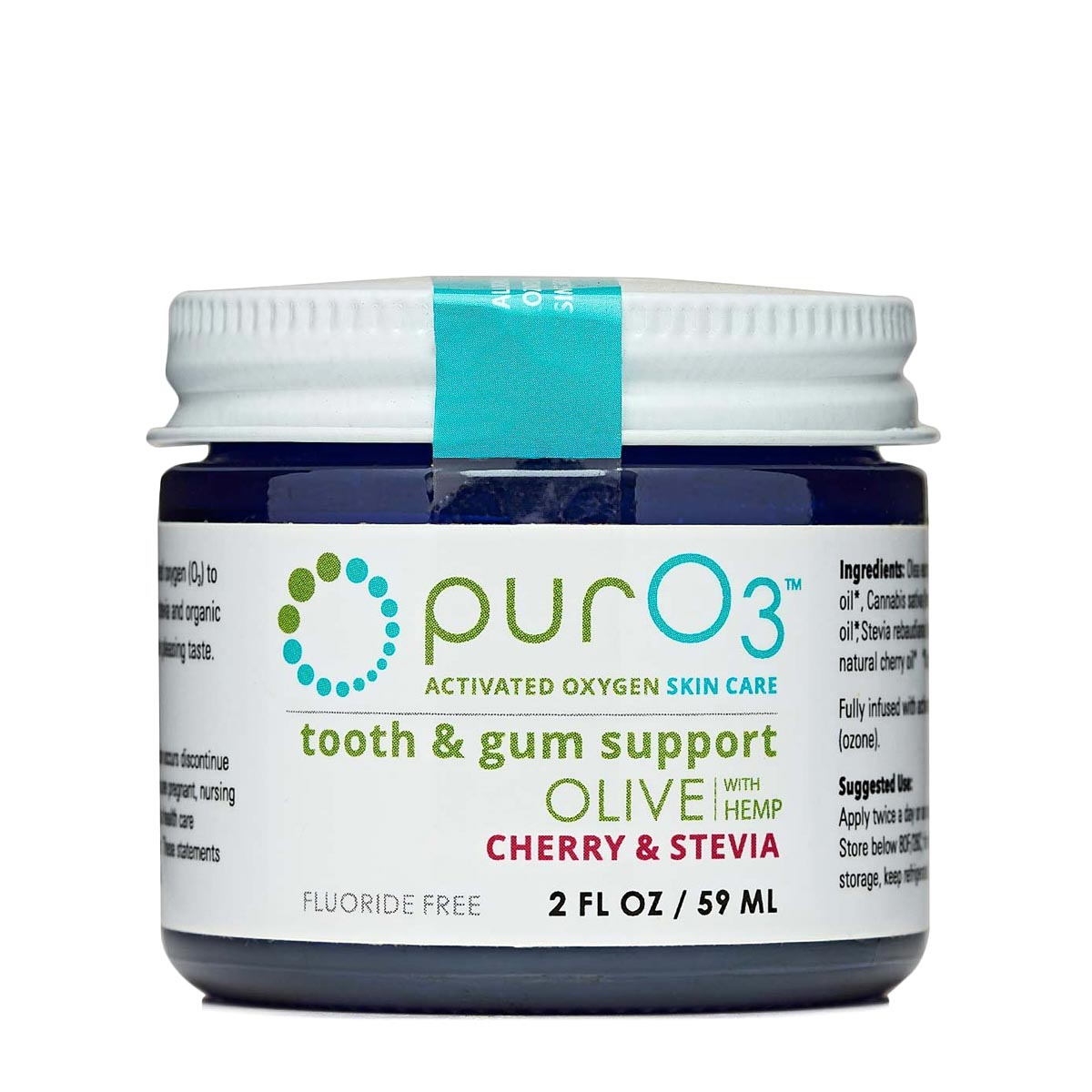 PurO3 Ozonated Tooth and Gum Support - Cherry Stevia (2fl. oz)