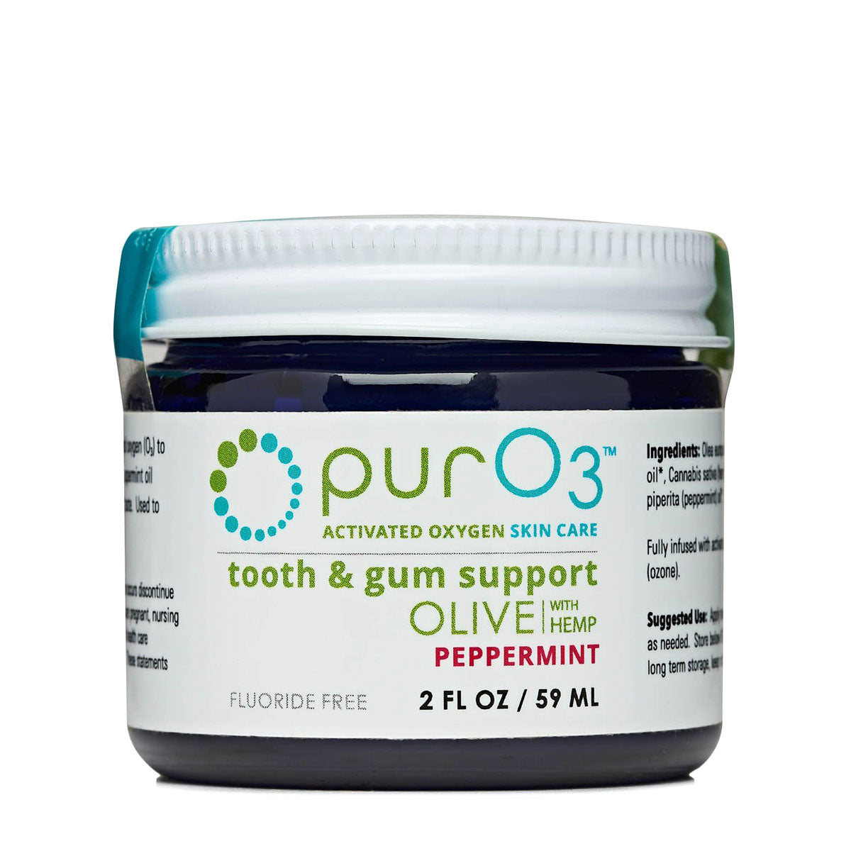 PurO3 Ozonated Tooth and Gum Support - Peppermint (2fl. oz)