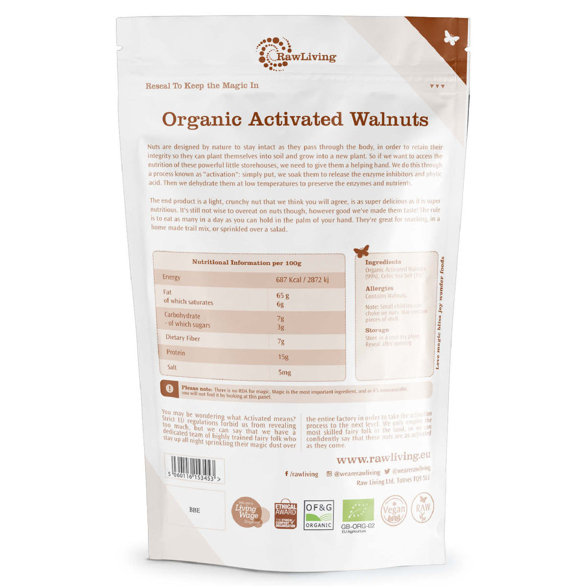 Activated Walnuts - Raw & Organic (200g)