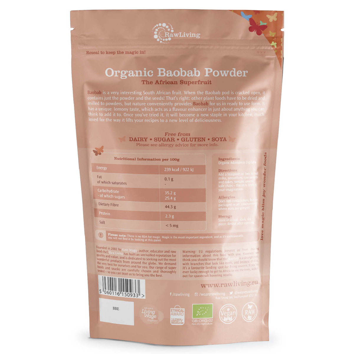 Baobab Fruit Powder - Organic (100g, 250g, 1kg, 10kg)