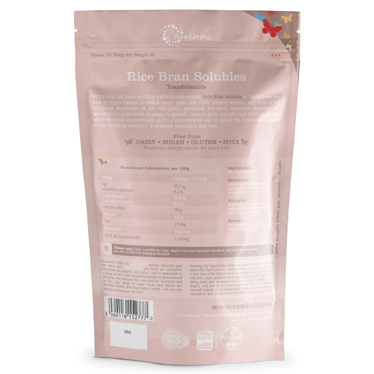 Rice Bran Solubles - Tocotrienols (100g, 250g, 1kg)