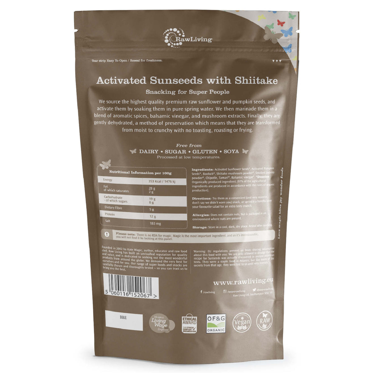 Activated Sunseeds with Shiitake (100g, 250g, 500g)