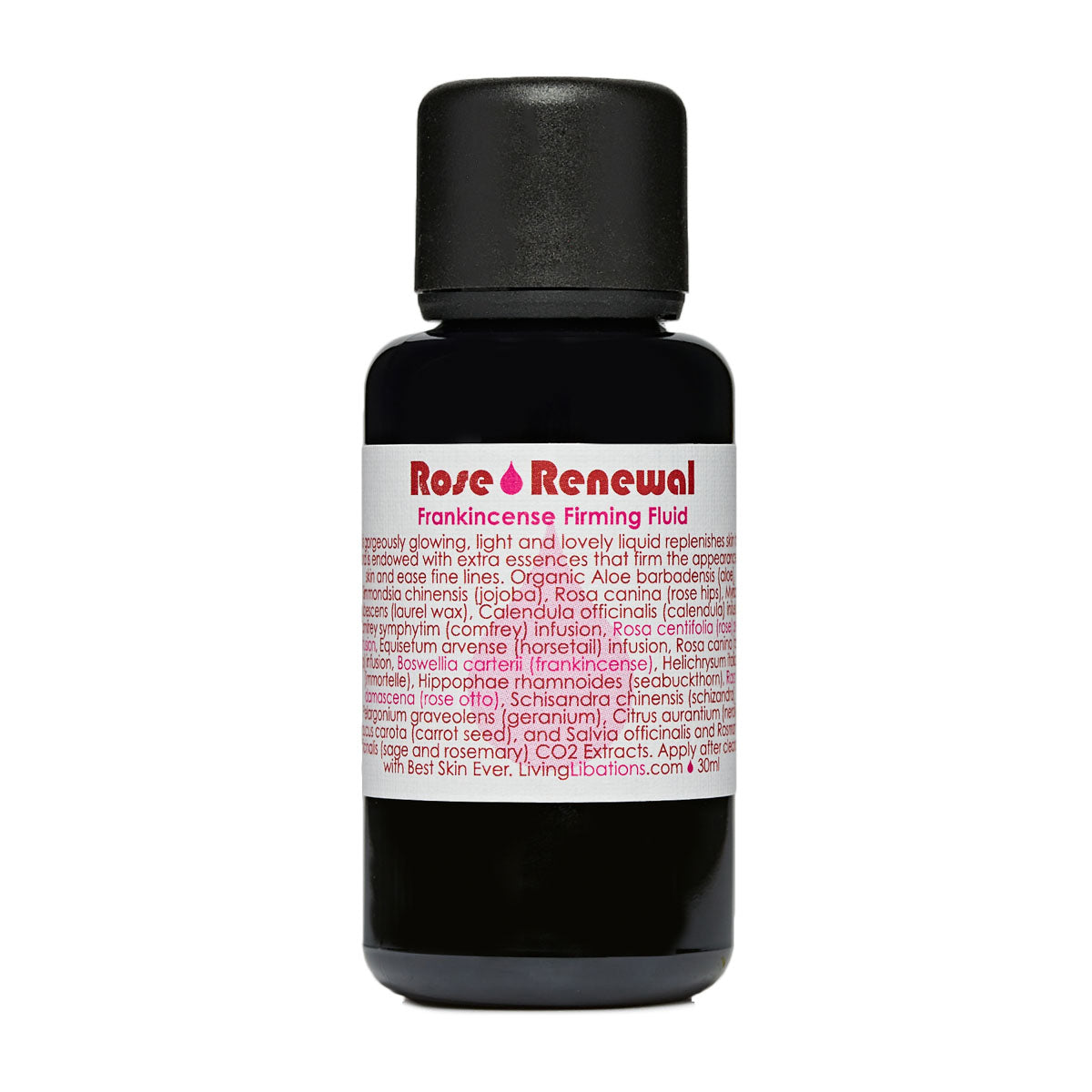 Living Libations - Rose Renewal Frankincense Firming Fluid (3ml / 30ml / 50ml)