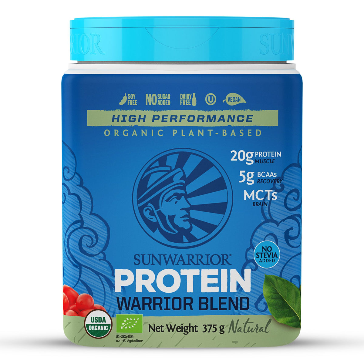 Warrior Blend Protein Natural - Organic, Raw and Vegan (375g)