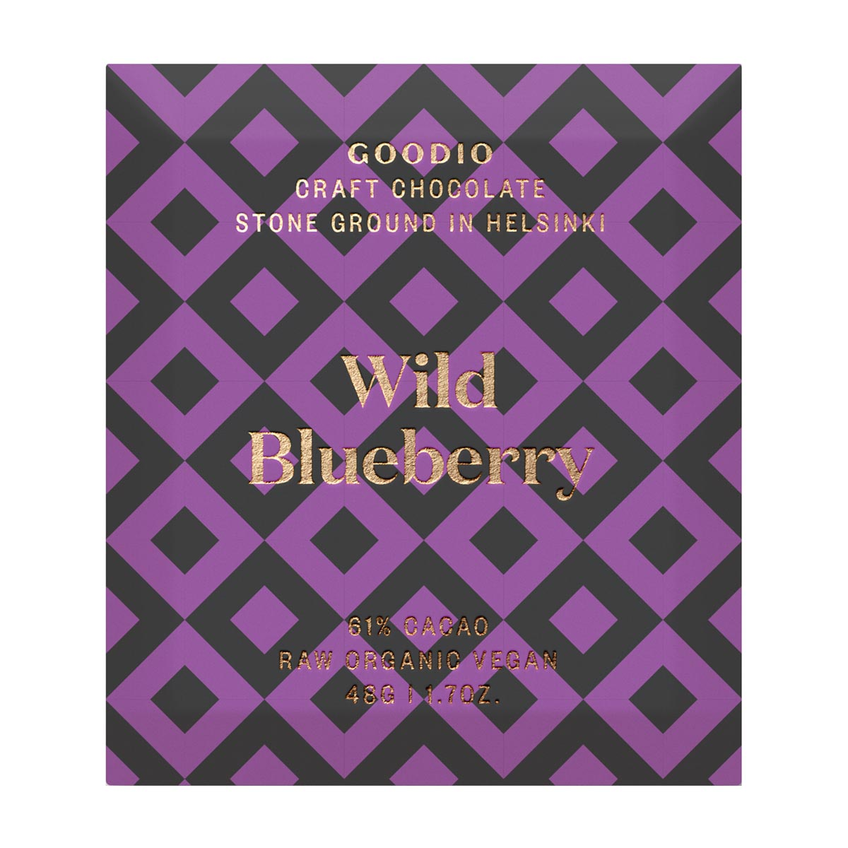 Goodio Organic Raw Chocolate - Wild Blueberry 61% (48g)