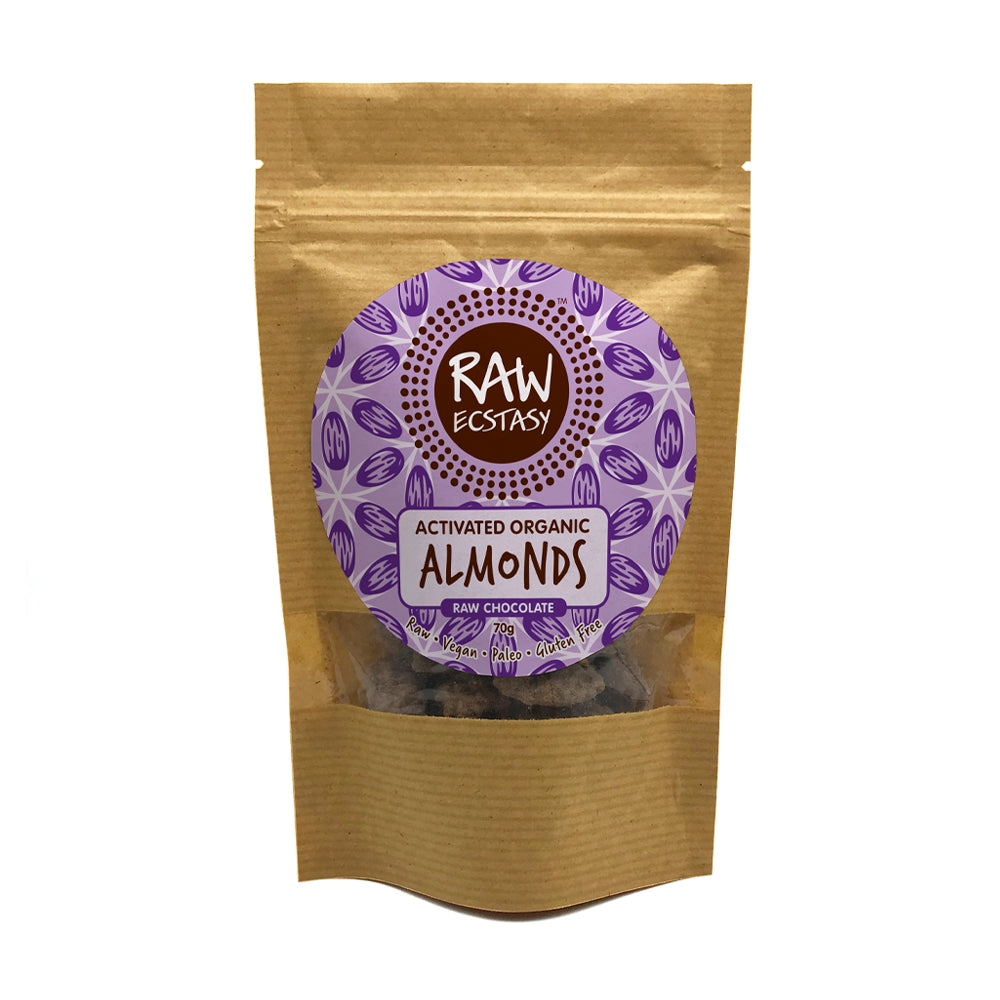 Activated Almonds Raw Chocolate (70g)
