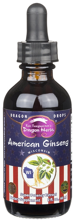 American Ginseng - Dragon Drops (2 fl.oz) - Dragon Herbs