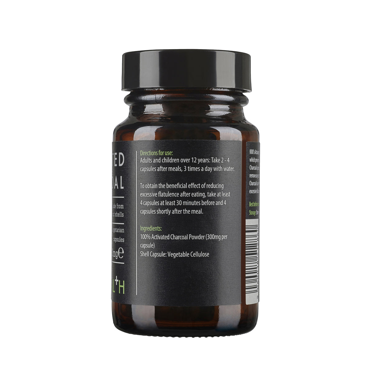 Activated Charcoal Capsules (50 x 300mg)
