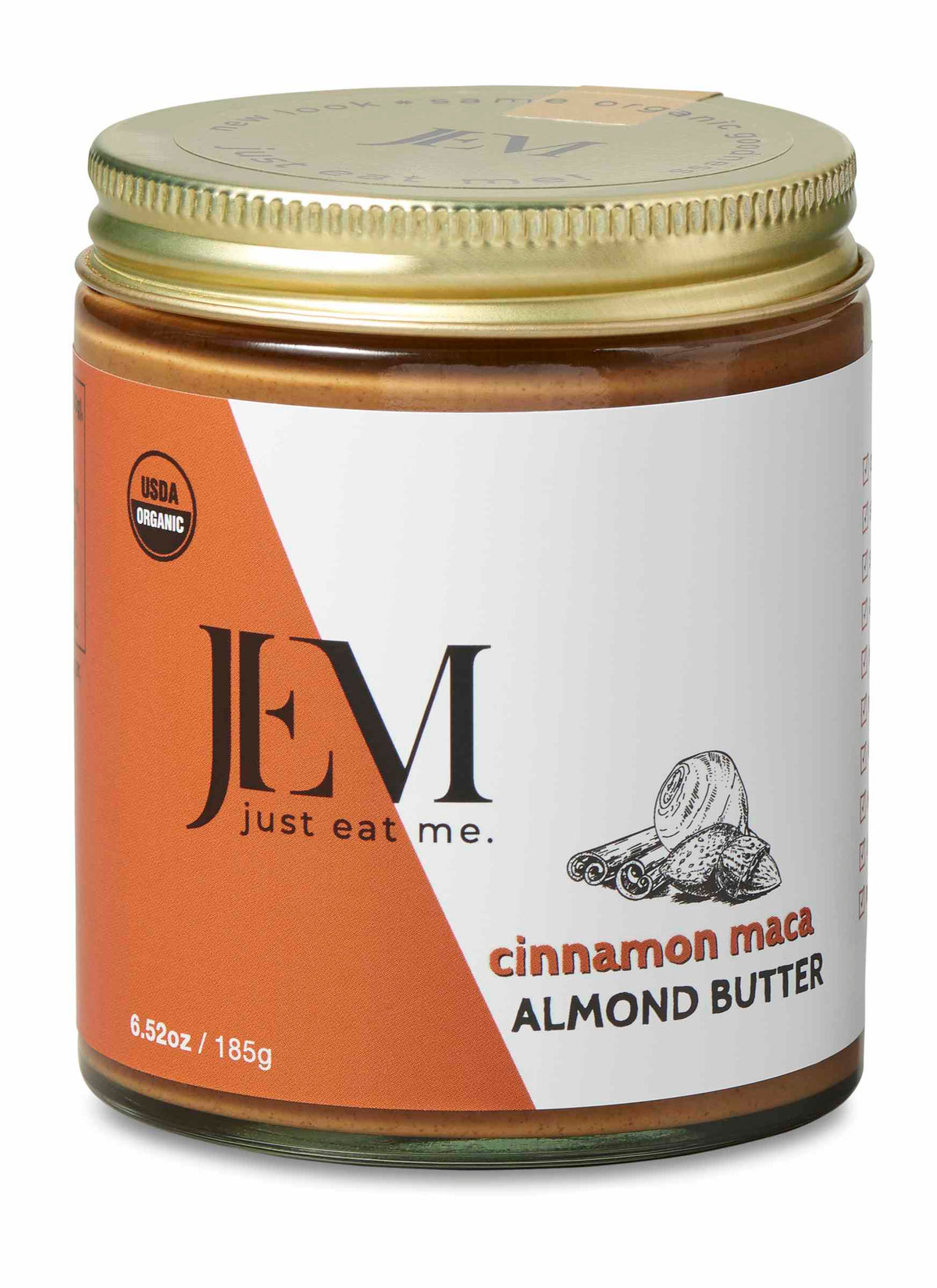 JEM Cinnamon Red Maca Almond Butter (185g, 454g)