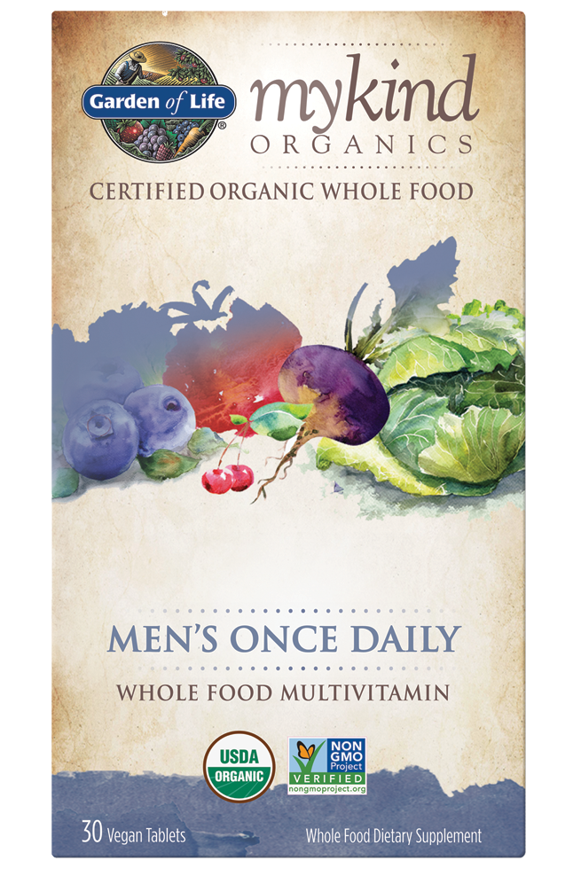 Mens Once Daily (30 tabs) - mykind Organics