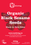 Black Sesame Seeds - Raw and Organic (250g, 1kg)