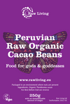 Cacao Bean Peruvian - Raw and Organic (250g, 1kg, 5kg)