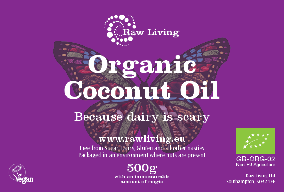 Coconut Oil - Extra Virgin Raw and Organic (500g, 1kg)