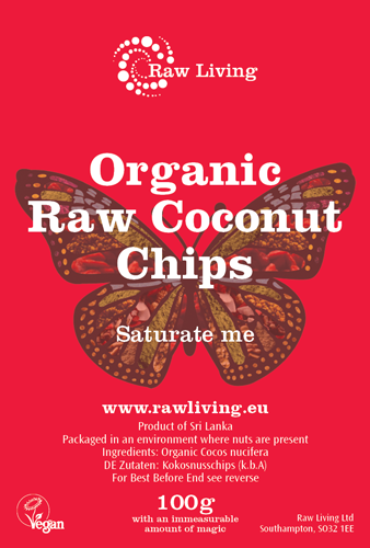 Coconut Chips - Raw and Organic (100g, 250g, 1kg, 5kg)