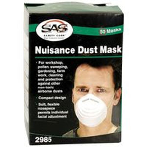 Mask - SAS SAFETY #2985 Nuisance Dust EACH