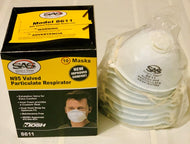 Respirator - SAS SAFETY #8611 N95 Valved Particulate 10/bx