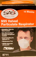 Load image into Gallery viewer, Respirator - SAS SAFETY #8711 N95 Valved Particulate 1/bx