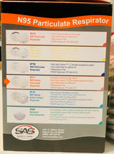 Load image into Gallery viewer, Respirator - SAS SAFETY #8711 N95 Valved Particulate 10/bx