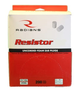 Earplugs - Radians #FP70 uncorded NRR 32 - 200/bx