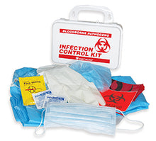 Load image into Gallery viewer, Biohazard - BBP Infection Control Kit, with CPR, zip bag #7780