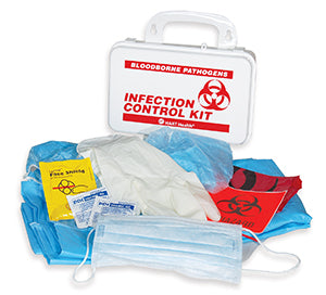 Biohazard - BBP Infection Control Kit, with CPR, zip bag #7780