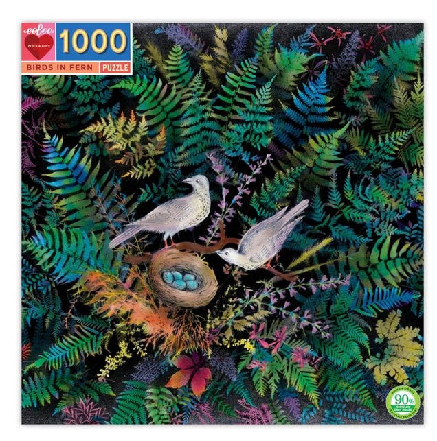 Birds in Fern Puzzle (1000pc)