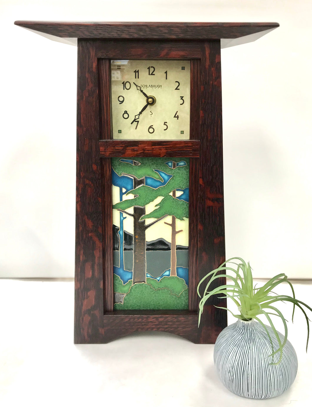 Craftsman Landscape Clock - Schlabaugh & Sons