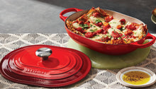 Load image into Gallery viewer, Le Creuset Signature Oval Cast Iron Casserole with Lid