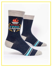 Load image into Gallery viewer, Men's Crew Socks - Blue Q