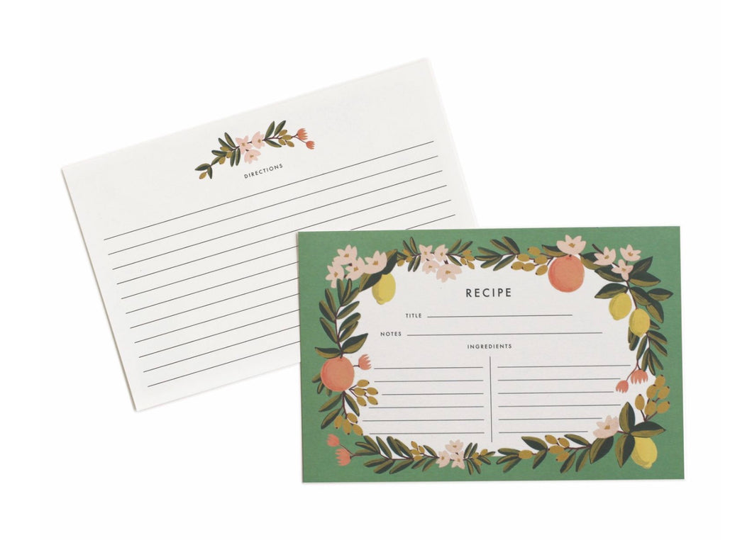Citrus Floral Recipe Cards - Rifle Paper Co.