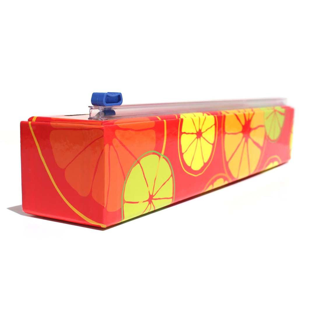 Plastic Wrap Dispenser & Roll, Citrus design