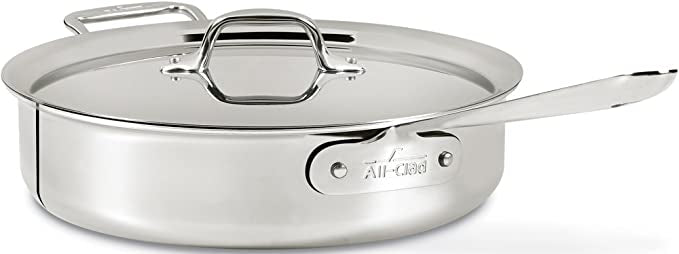 All-Clad d3 Stainless 4 qt. Sauté Pan