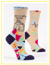 Load image into Gallery viewer, Women's Crew Socks - Blue Q