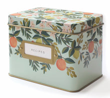 Load image into Gallery viewer, Citrus Floral Recipe Box - Rifle Paper Co.
