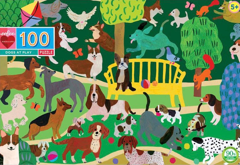 Dogs at Play Puzzle (100pc)