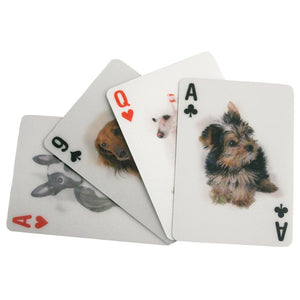 3-D Dog Playing Cards - Kikkerland