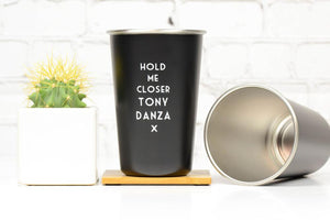 Misheard Lyric Pint Glass- Tony Danza