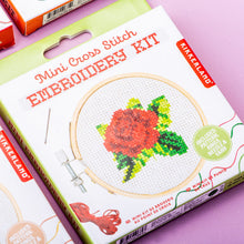 Load image into Gallery viewer, Rose Mini Embroidery Kit - Kikkerland