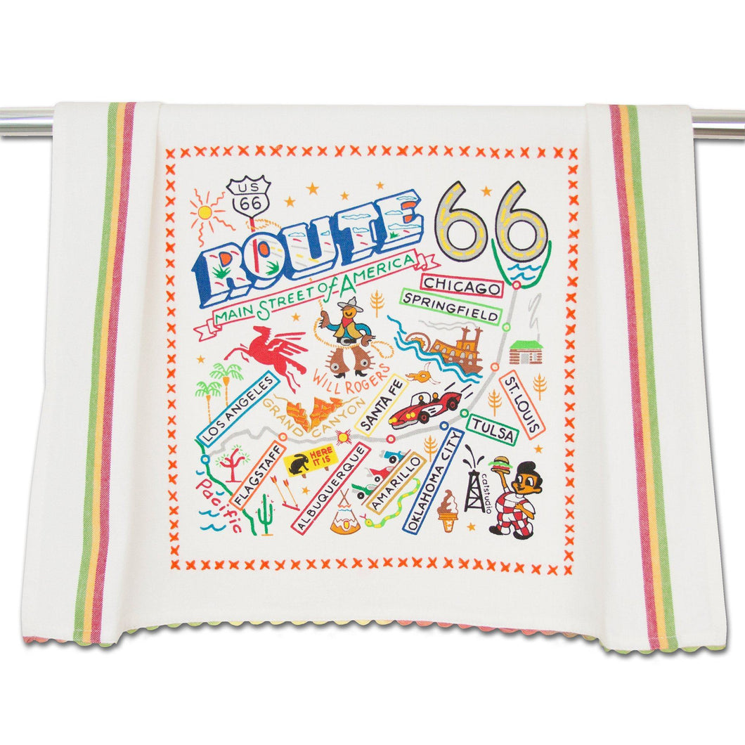 Route 66 Dish Towel - Catstudio
